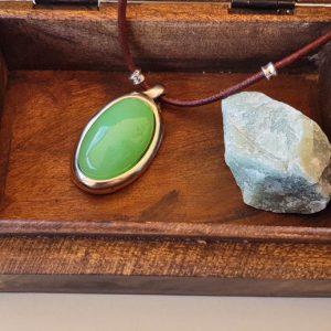 Collar Ciclón Piedra Verde